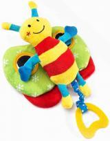 Edukační plyšová hračka Sensillo motýlek s pískátkem,Edukační plyšová hračka Sensillo motýlek s pískátkem