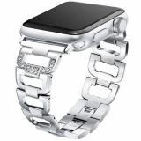 eses Kovový článkovitý řemínek 38/40 mm stříbrný pro Apple Watch