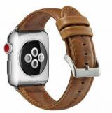 eses Kožený řemínek 42/44 mm světle hnědý pro Apple Watch