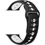 Eternico Apple Watch 38mm / 40mm Silicone Polkadot Band černo bílý