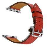 Eternico Apple Watch 42mm / 44mm Leather Strap červený