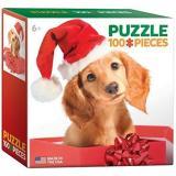Eurographics Puzzle 100 Dílků Mini Puzzle - Holiday Puppy
