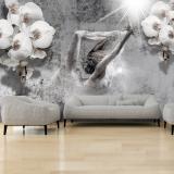 Fototapeta - Arrangement with orchid 250x175 cm