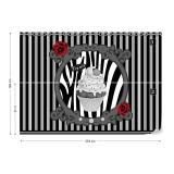 Fototapeta - Cupcake Stripes Grey Papírová tapeta  - 254x184 cm