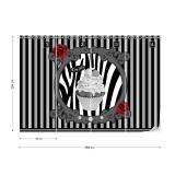 Fototapeta - Cupcake Stripes Grey Papírová tapeta  - 368x254 cm