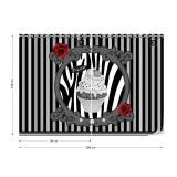 Fototapeta - Cupcake Stripes Grey Vliesová tapeta  - 208x146 cm