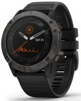 Garmin fénix 6X PRO SOLAR, Titanium Carbon Gray DLC, Black band