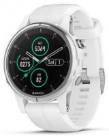 GARMIN GPS chytré hodinky fenix5S Plus Sapphire White, White Band
