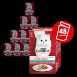 Gourmet Mon Petit Multipack 8x Tuňák, Losos, Pstruh Ve Šťávě