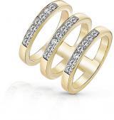 Guess Luxusní trojitý prsten UBR84062 54 mm