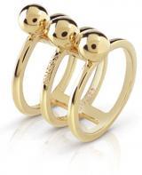 Guess Trojitý pozlacený prsten UBR85016 54 mm