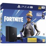 Herní konzole Sony PlayStation 4 Pro 1 TB   Fortnite balíček 2000 V Bucks černá   DOPRAVA ZDARMA