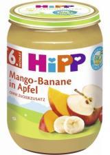 HiPP OVOCE BIO Jablka s mangem a banány 190g,HiPP OVOCE BIO Jablka s mangem a banány 190g