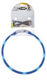 IMAC Svítící LED obojek s USB dobíjením, modrý M