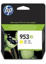 Inkoustová cartridge HP 953XL, do tiskárny OfficeJet Pro 8210, 8700, žlutá, 1,6k, HP, F6U18AE