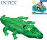 INTEX Aligátor nafukovací 168x86cm dětské plavidlo s držadlem do vody 58546