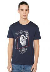 Jack&Jones Pánské triko Zine Tee Ss Crew Neck Total Eclipse Slim L