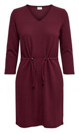 Jacqueline de Yong Dámské šaty JDYDAKOTA 3/4 DRESS JRS Windsor Wine XS