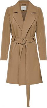 Jacqueline de Yong Dámský kabát JDYORNELLA BELT TRENCHCOAT OTW YFM Woodsmoke XL