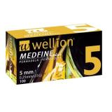 JEHLY WELLION MEDFINE PLUS PRO VŠECHNA INZULÍNOVÁ PERA VEL. 31G X 5 MM, 100 KS