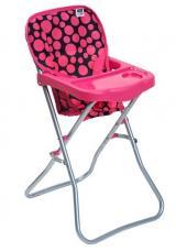 Jídelní židlička pro panenky PlayTo Dorotka růžová,Jídelní židlička pro panenky PlayTo Dorotka růžová