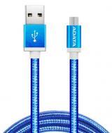 Kabel ADATA USB/micro USB, 1m, pletený modrý