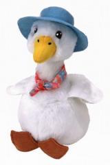 Kachna Jemina Puddle, plyšová figurka z kolekce Ty Beanies Babies na motivy animovaného filmu Králíček Petr, 15 cm, pro děti od 3 let. Figurka