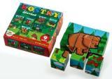 Kostky Moje první zvířátka dřevo 9ks v dřevěné krabičce