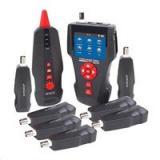 LAN Cable Tester TLCD88 s LCD, měření STP, PSTN, Coax, PoE, PING, délka vedení   sonda   8x terminátor