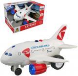 Letadlo ČSA Czech Airlines s hlášením na setrvačník na baterie CZ Světlo Zvuk