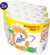 LINTEO toaletní papír Economy Pack 3x 24rolí, 3 vrstvý, bílý