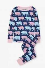 Little Blue House dětské pyžamo Cottage Bears 128 vícebarevná