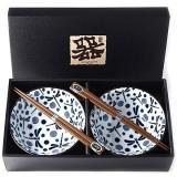 Made In Japan Set misek Blue Dragonfly s hůlkami 500 ml 2 ks
