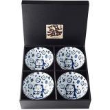Made In Japan Set misek Maneki Cat 300 ml 4 ks