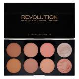 Makeup Revolution London Ultra Blush Palette tvářenka Golden Sugar 2 13 g