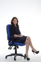Manažerská židle, textilní, černá základna, MaYAH,
