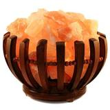 MARIMEX Dřevěná miska se solnými krystaly kulatá 2-3kg
