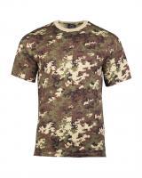 Maskáčové tričko s krátkým rukávem - vegetato, XL