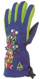 Matt chlapecké rukavice CUTE 116/122 modrá