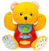 Mikro hračky Medvídek 18 cm sedící se světlem a zvukem