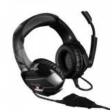 Modecom VOLCANO BOW headset, herní sluchátka s mikrofonem, 2,2m kabel, 3,5mm jack, USB napájení, černá, LED podsvícení, S-MC-859-BOW