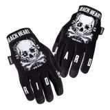 Moto rukavice W-TEC Web Skull černá - XXL