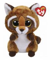 Mýval Rusty, plyšová figurka z kolekce TY Beanie Boos. 15 cm. Pro děti od 3 let. Figurka