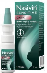 Nasivin Sensitive 0.01 % nosní kapky roztok 5ml,Nasivin Sensitive 0.01 % nosní kapky roztok 5ml