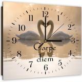 Nástěnné hodiny - Carpe Diem 2 40x40 cm