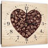 Nástěnné hodiny - The Heart Of Coffee Beans 40x40 cm