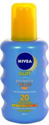NIVEA SUN Olej na opalování Protect&Bronze SPF20 200ml,NIVEA SUN Olej na opalování Protect&Bronze SPF20 200ml