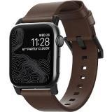 Nomad Leather Strap Modern Brown Black Hardware Apple Watch 5 40/38mm
