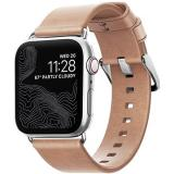 Nomad Leather Strap Modern Natural Silver Apple Watch 5 40/38mm