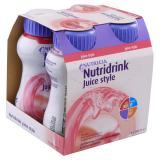 NUTRIDRINK Juice Style roztok s jahodovou příchutí 4 x 200 ml